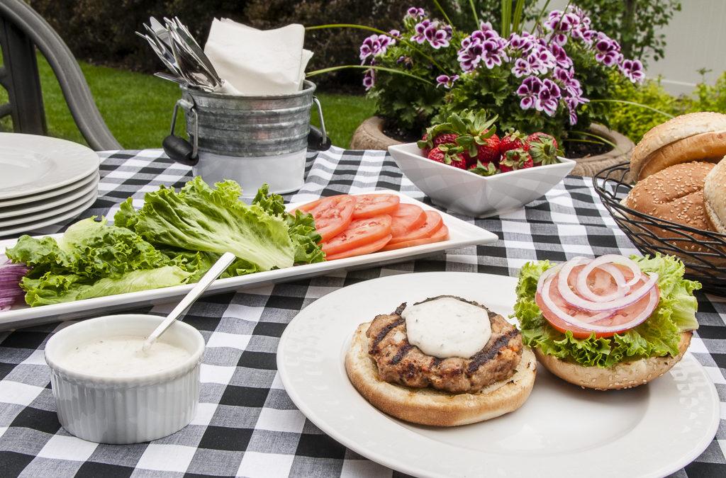 Italian Turkey Burgers with Basil Mayonnaise