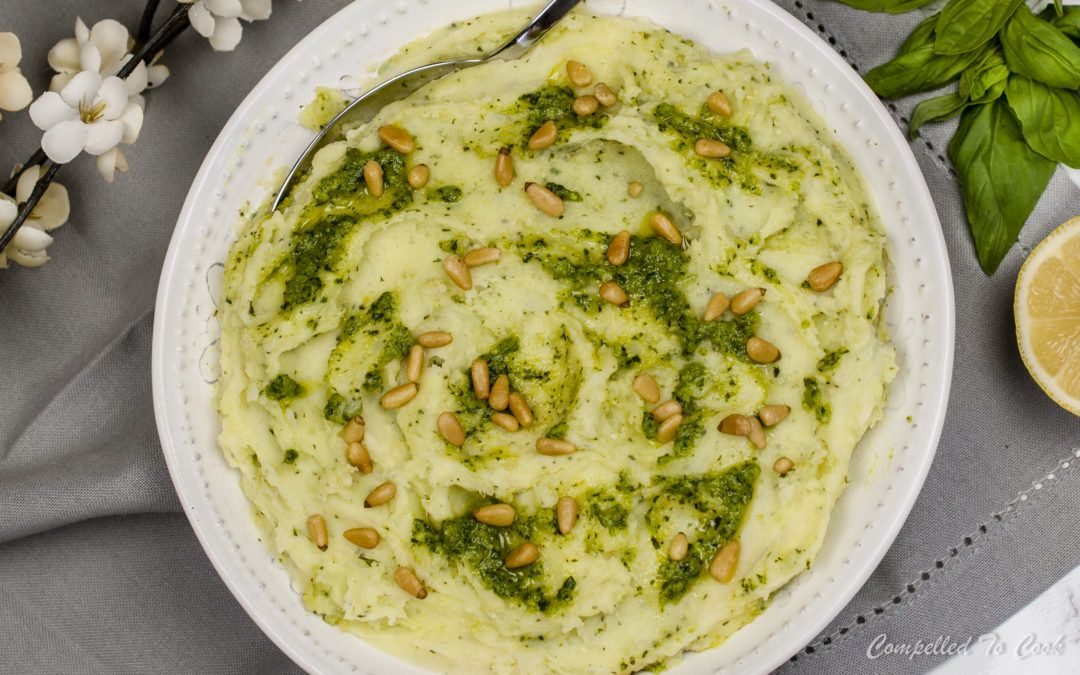 Pesto Swirl Mashed Potatoes
