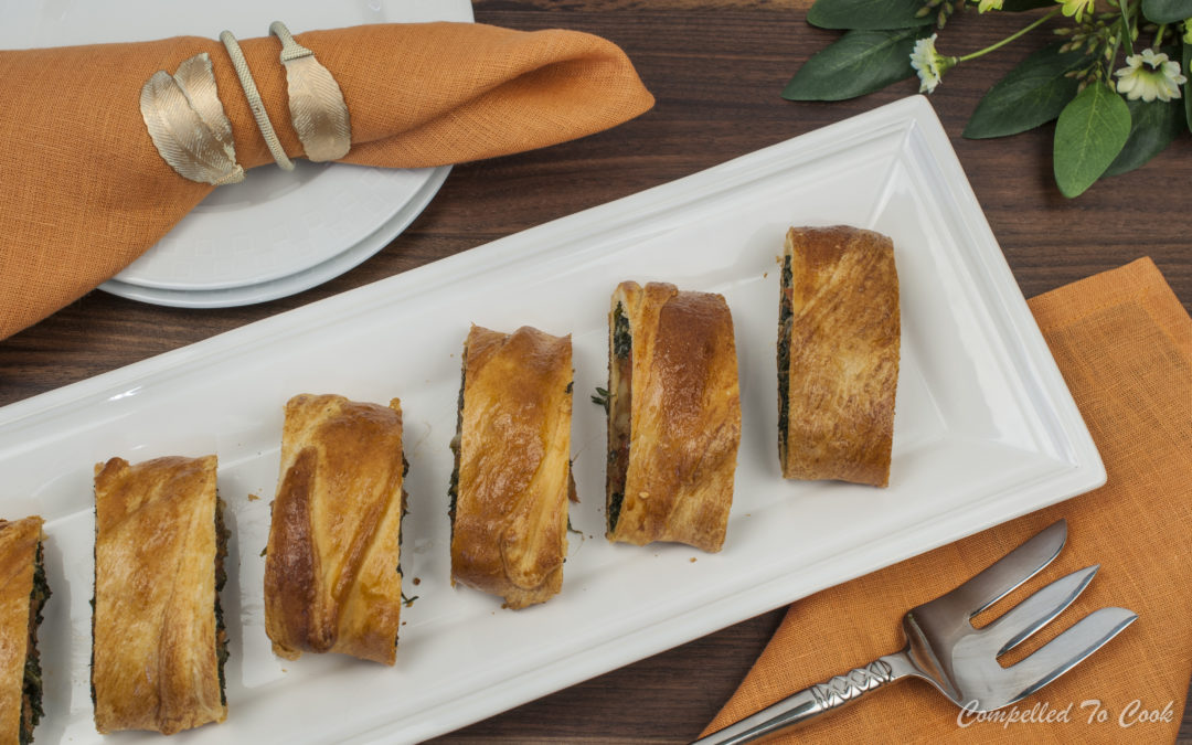 Kale and Sausage Pastry Roll