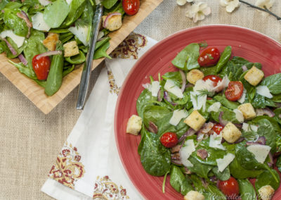 Wilted Spinach Tomato Salad
