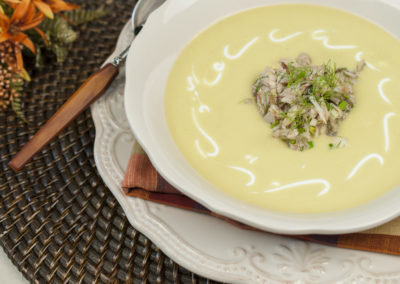 Chilled Corn and Crab Soup
