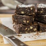 Gluten Free Black Bean Brownies will surprise you, so don't let the name fool you. Gluten free and  made with black beans but every bit as rich, chocolately and sinful as a traditional brownie.