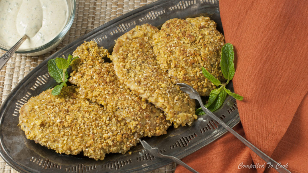 Dukkah Crusted Pork Cutlets Compelled To Cook