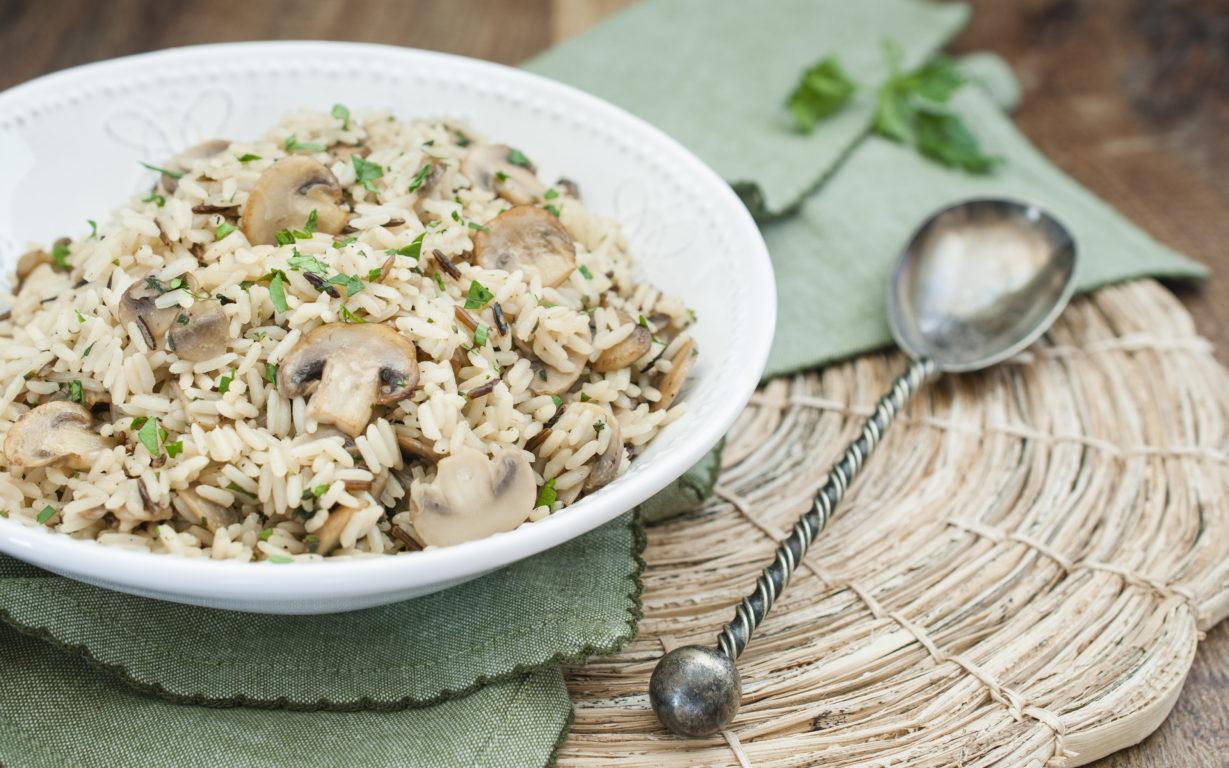 how to cook mushroom rice