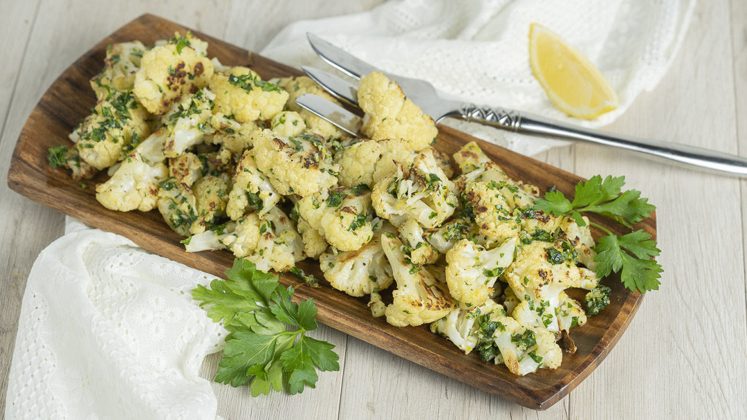 Roasted Gremolata Cauliflower