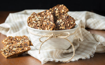 Pumpernickel Seed and Nut Crisps
