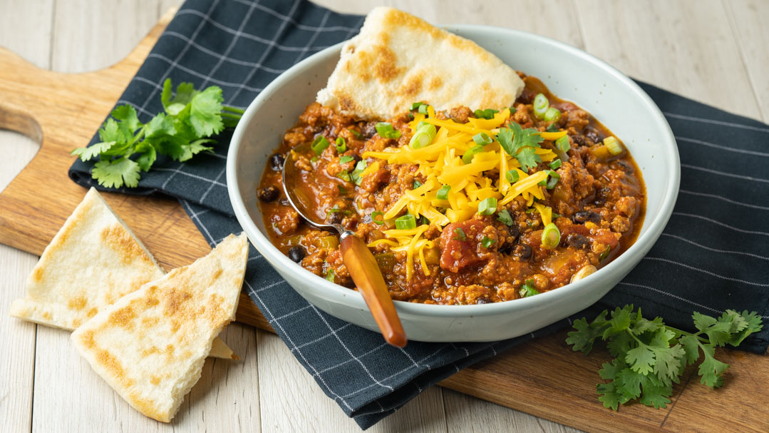 Meaty Black Bean Chili